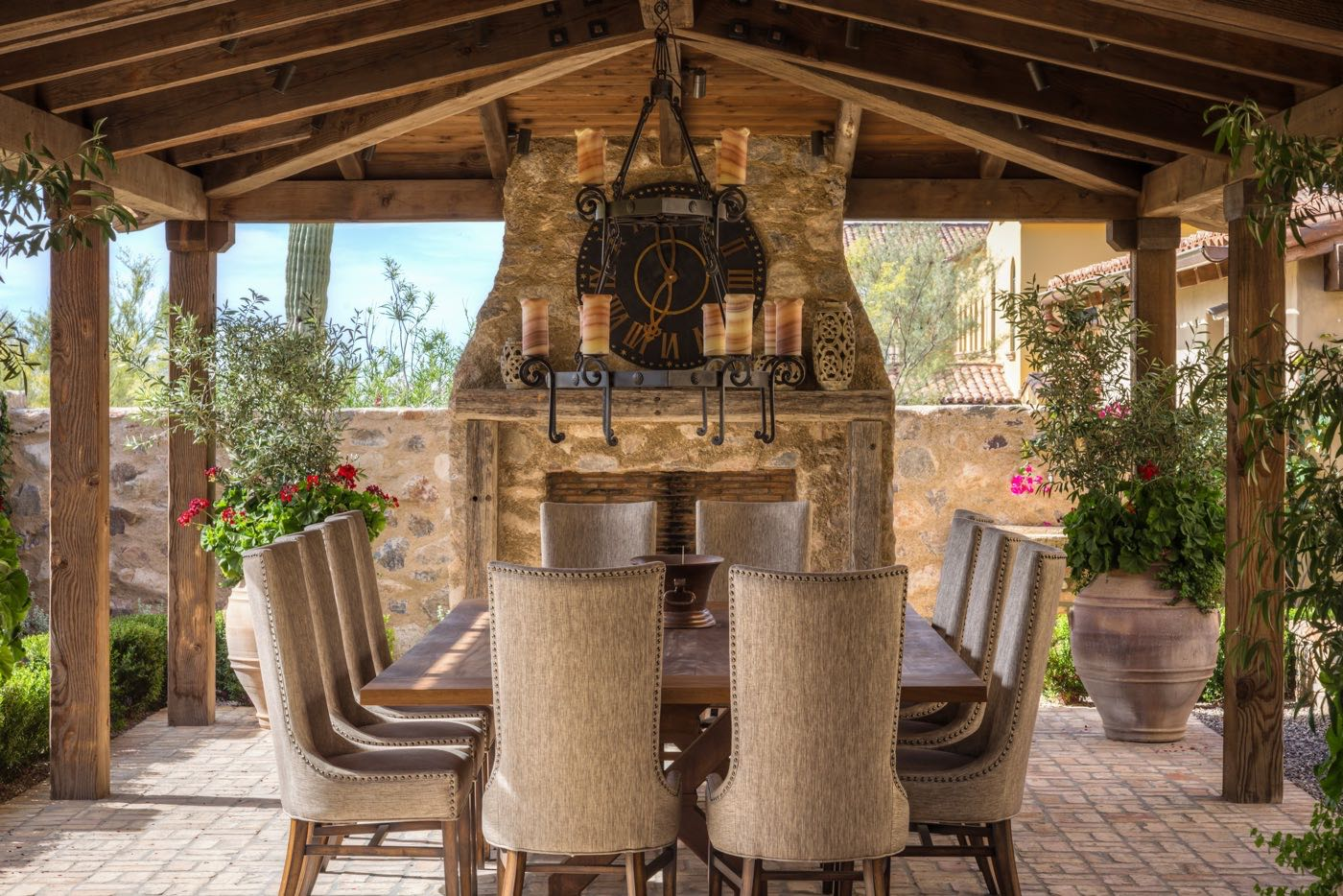 Silverleaf Scottsdale Luxury Custom Residence Spiral Architects Gene Kniaz Outdoor Dining Room