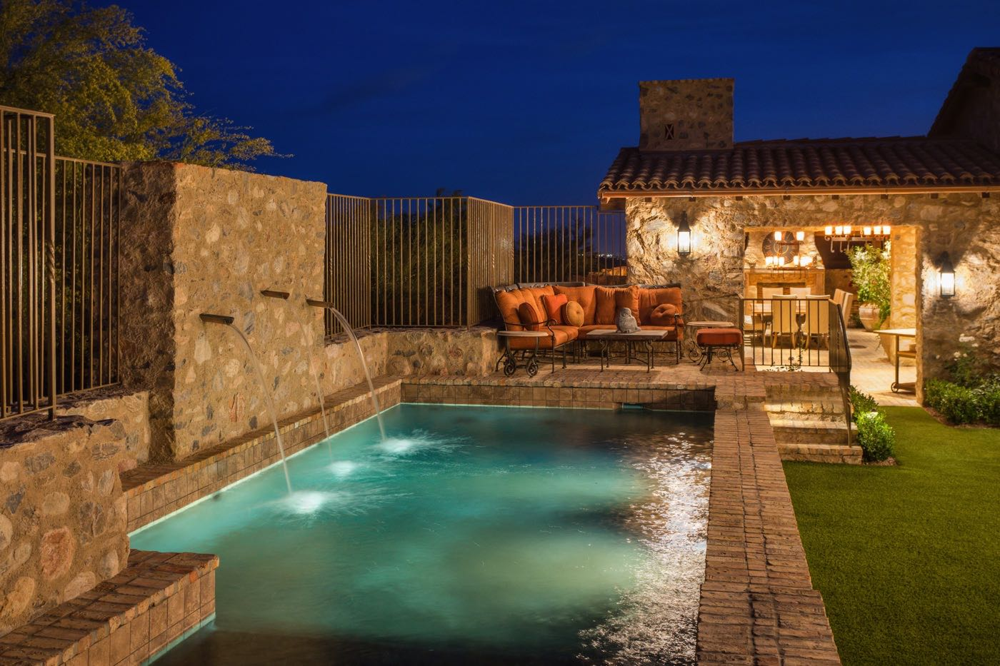Silverleaf Scottsdale Luxury Custom Residence Spiral Architects Gene Kniaz Pool