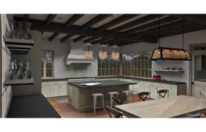Silverleaf Scottsdale Luxury Custom Residence Spiral Architects Gene Kniaz Kitchen Rendering