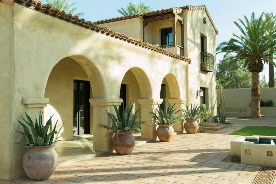 adobe architecture paradise valley arizona residential architects wrought iron